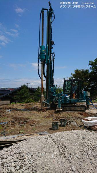 令和元年6月25日  着工から11日目 地盤改良工事