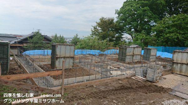 令和元年6月29日 着工から15日目 基礎工事