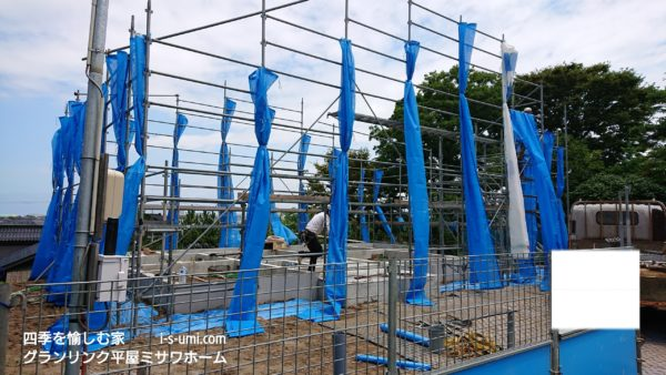 令和元年7月16日 着工から32日目 基礎完成