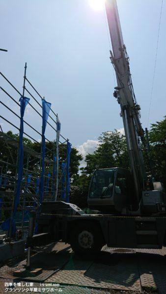 令和元年7月17日 着工から33日目  組立工事