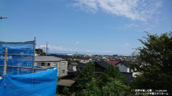 令和元年8月10日 着工から57日目の建築現場より 北の見晴らし