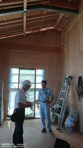 着工から57日目 令和元年7月27日の建築現場