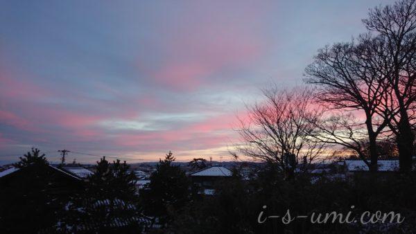 朱鷺色の朝焼け