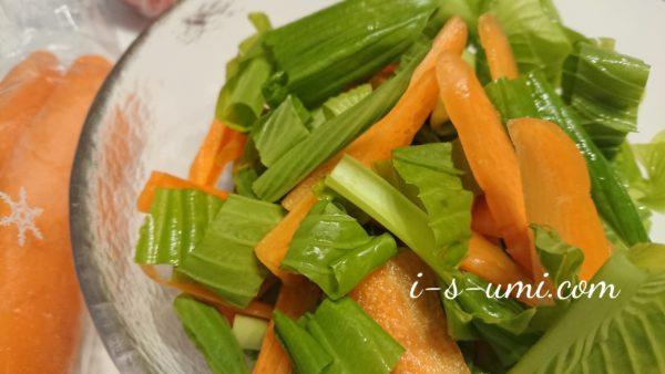 免疫力アップ「雪下にんじん&うるい」のビタミン栄養サラダ 2020.4.28