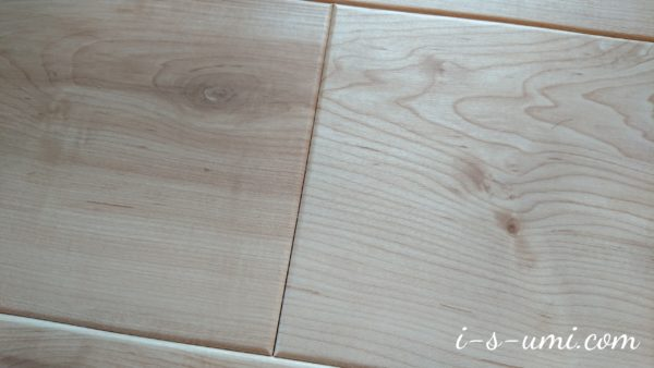 フローリング床材のすき間 2020.3.21