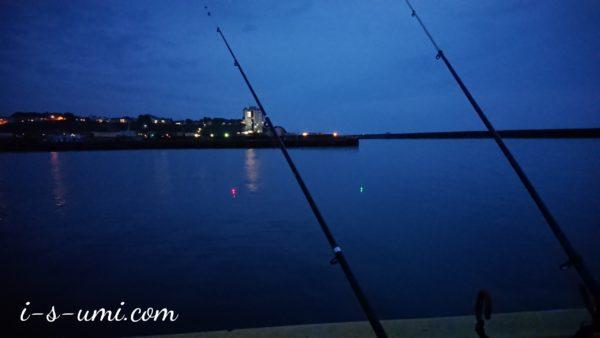 日本海 堤防夜釣り 2020.6.12