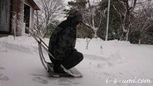 雪になった私 2021.1.9