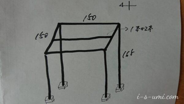 ぶどう棚設計図